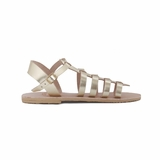 MAC&LOU Greek Leather Sandals 'Euterpe' - Gold