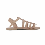 MAC&LOU Greek Leather Sandals 'Euterpe' - Natural