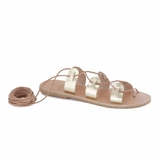 MAC&LOU Greek Leather Sandals 'Polyhymnia' - Gold