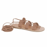 MAC&LOU Greek Leather Sandals 'Polyhymnia' - Natural