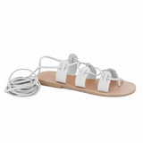 MAC&LOU Greek Leather Sandals 'Polyhymnia' - White