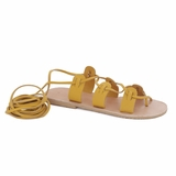 MAC&LOU Greek Leather Sandals 'Polyhymnia' - Yellow