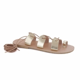 MAC&LOU Greek Leather Sandals 'Terpsichore' - Gold