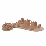 MAC&LOU Greek Leather Sandals 'Terpsichore' - Natural