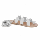 MAC&LOU Greek Leather Sandals 'Terpsichore' - White
