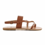 MAC&LOU Greek Leather Sandals 'Thalia' - Brown