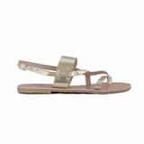 MAC&LOU Greek Leather Sandals 'Thalia' - Gold