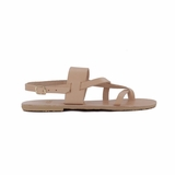 MAC&LOU Greek Leather Sandals 'Thalia' - Natural