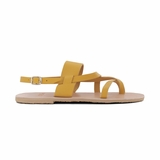 MAC&LOU Greek Leather Sandals 'Thalia' - Yellow