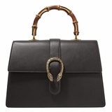Gucci Dionysus Bamboo Large Leather Tote - Black
