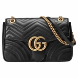 Gucci GG Marmont Medium Matelasse Shoulder Bag - Black