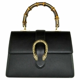 Gucci Medium Dionysus with Bamboo Handle - Black