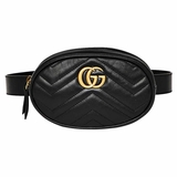 Gucci Marmont Quilted Leather Belt Bag - Black