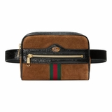 Gucci Ophidia Small Suede Belt Bag - Brown