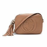 Gucci Soho Disco Small Pebbled Calfskin Rose - Beige
