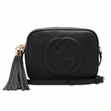 Gucci Soho GG Small Leather Crossbody Bag - Black