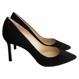 Jimmy Choo Romy 85 Suede Pumps - Black