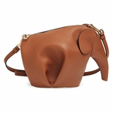 Loewe Elephant Motif Cross Body Bag - Brown