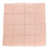 Louis Vuitton Silk Wool Monogram Denim Shawl - Pink