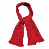 Louis Vuitton Wool Silk Logomania Scarf - Rubis Ruby