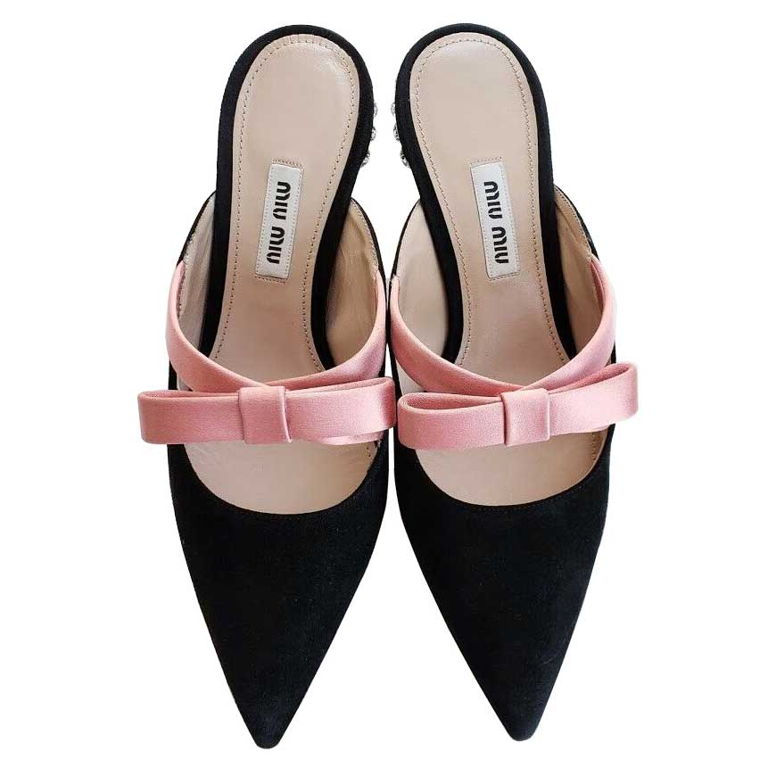 black and pink shoes heels