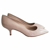 Miu Miu Patent Leather Basic Pumps Heel Shoes - Cipria Nude Pink