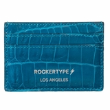 Rockertype Crocodile Cardholder - Blue