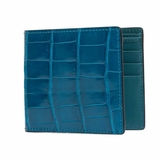 Rockertype Crocodile Leather Wallet - Blue