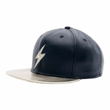 Rockertype Leather Baseball Hat Black/Gold