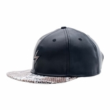 Rockertype Leather Baseball Hat Black/Python