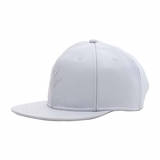 Rockertype Leather Baseball Hat Coke White