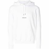 Saint Laurent Branded Hoodie - White