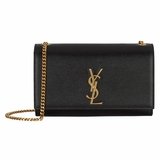 Saint Laurent Kate Medium Monogram Shoulder Bag - Black