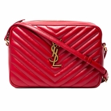 Saint Laurent Loulou Monogram Leather Crossbody Bag - Red