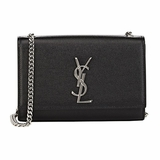 Saint Laurent Monogram Kate Small Leather Chain Bag - Black