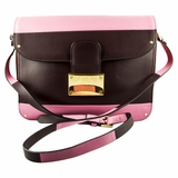 Valentino Rivet Shoulder Bag - Black/Pink