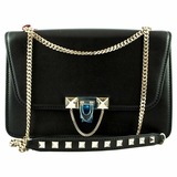 Valentino Demilune Chain Shoulder Bag - Black