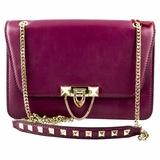 Valentino Demilune Chain Shoulder Bag - Purple