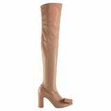 Valentino Garavani Leather Boot - Beige