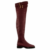 Valentino Garavani Leather Boot - Maroon