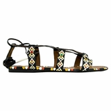 Valentino Garavani Leather Flat Sandal - Multicolor