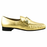 Valentino Garavani Leather Flat Shoes - Gold