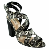 Valentino Python Leather Strappy Sandal - Black