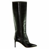 Valentino Studded Leather Pointed Toe Boot - Black