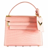 Valentino My Rockstud Crocodile Leather Single Top Handle Handbag - Pink