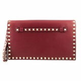 Valentino Rockstud Clutch - Red
