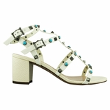Valentino Cage High Heel Sandal - Ivory