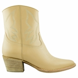 Valentino Leather Bootie - Beige