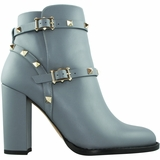 Valentino Leather Bootie - Light Blue