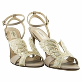 Valentino Evening Leather High Heels Sandal - Ivory